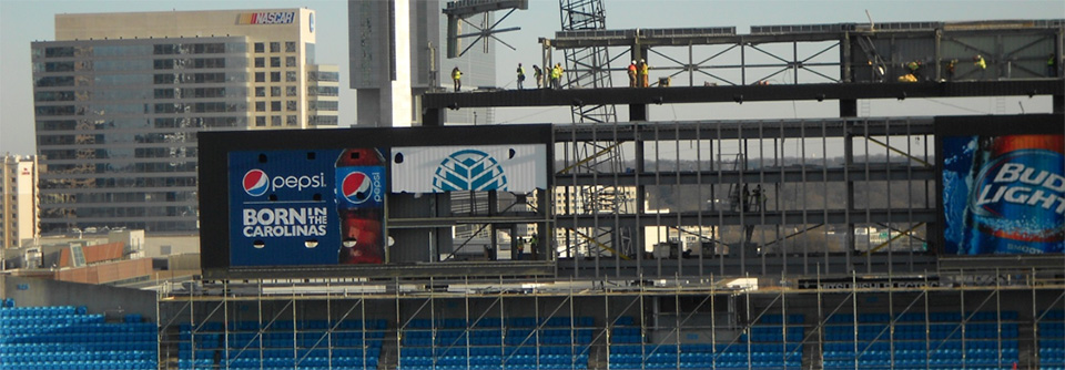 Demolition of Panthers Scoreboard