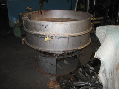 "Used 48"" diameter stainless steel single deck vibrating screen"
