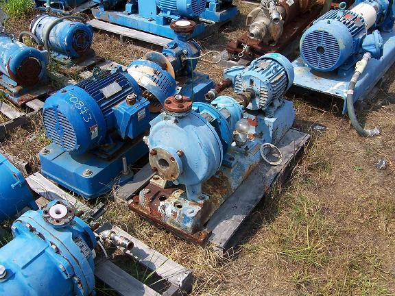 Used Goulds 3196 MT 316 stainless steel centrifugal pump.  Size: 1 X 2 X 10