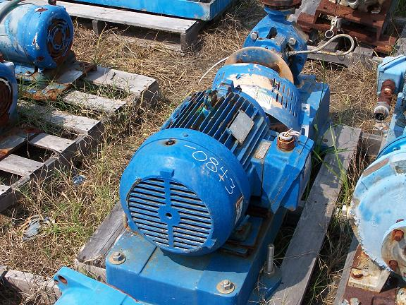 Used Goulds hastelloy C centrifugal pump.  Size: 1 X 1.5 X 6