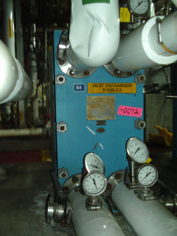 Used Alfa Laval 312.18 square feet 316 stainless steel plate heat exchanger
