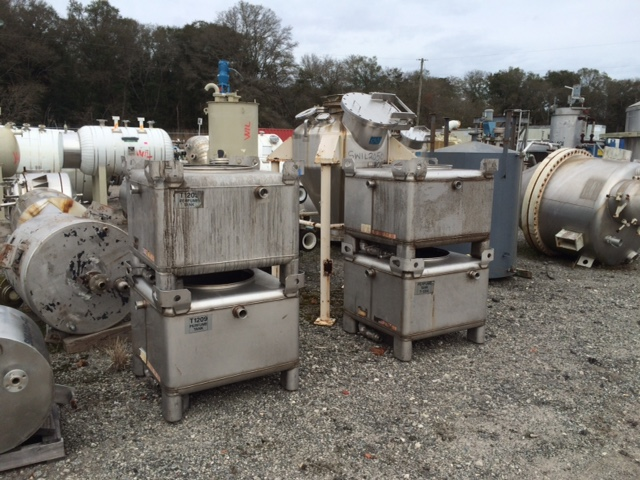(2) Used TranStore approximately 130 gallon SS portable liquid tote