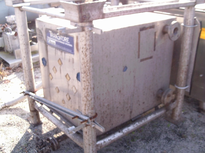 Used TranStore approximately 150 gallon stainless steel portable liquid tot