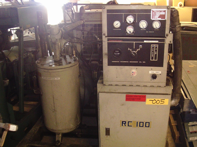 Used Champion Pneumatic Machinery Co. Model# RC100