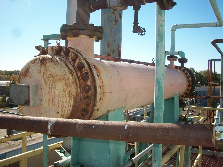 Used ISPO 175 sq. ft. horizontal shell and tube heat exchanger