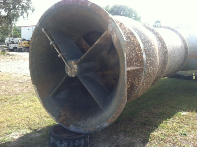 Used Sulzer vertical mixed flow stainless steel pump