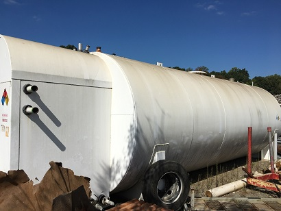 Used General Industries approximately 15,000 gallon horizotnal tank(SOLD)
