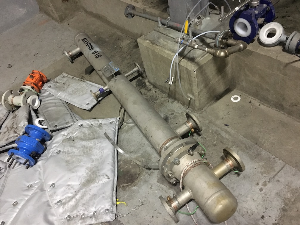 Used Basco API Heat Transfer approx. 33 sq. ft. 316 SS U-tube heat exchange