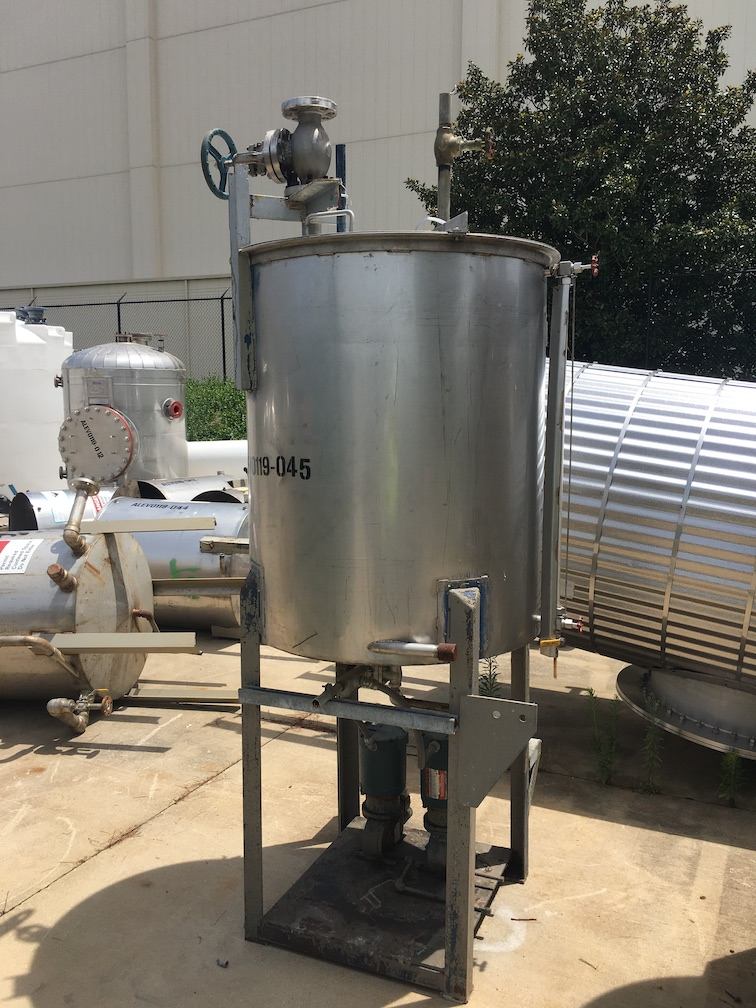 Used FESCO 175 gallon 304 stainless steel vertical tank(SOLD)