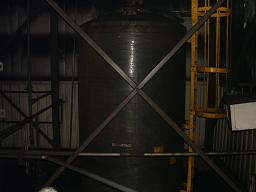 Used GPI approximately 5000 gallon vertical fiberglass storage tank