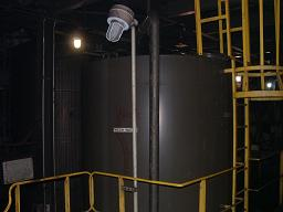 Used approximately 5000 gallon vertical carbon steel storage tank