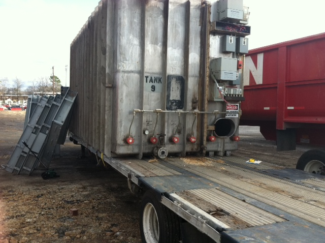 Used approximately 10,000 gallon T-304 S/S rect fermentation tank(SOLD)