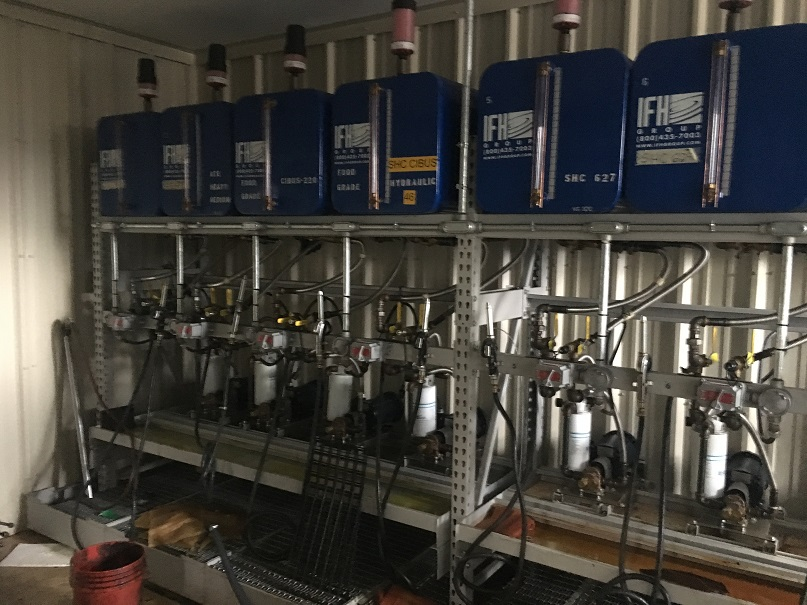 Used IFH fluid storage and dispensing system (SOLD)