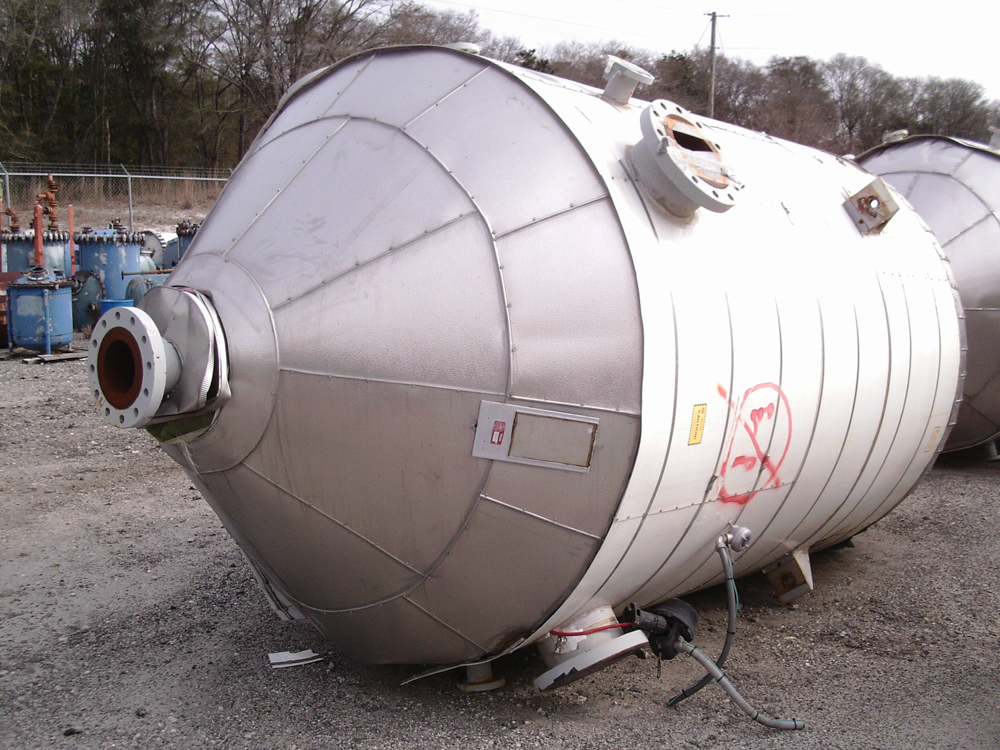 Arrow Tank & Engineering Co. appx. 2,000 gallon C/S cone bottom tank