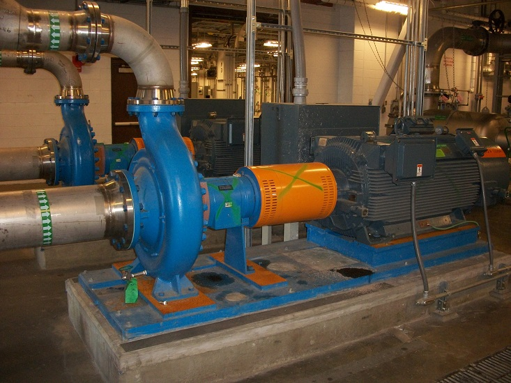 Goulds 3180 pump with Siemens 500HP induction motor