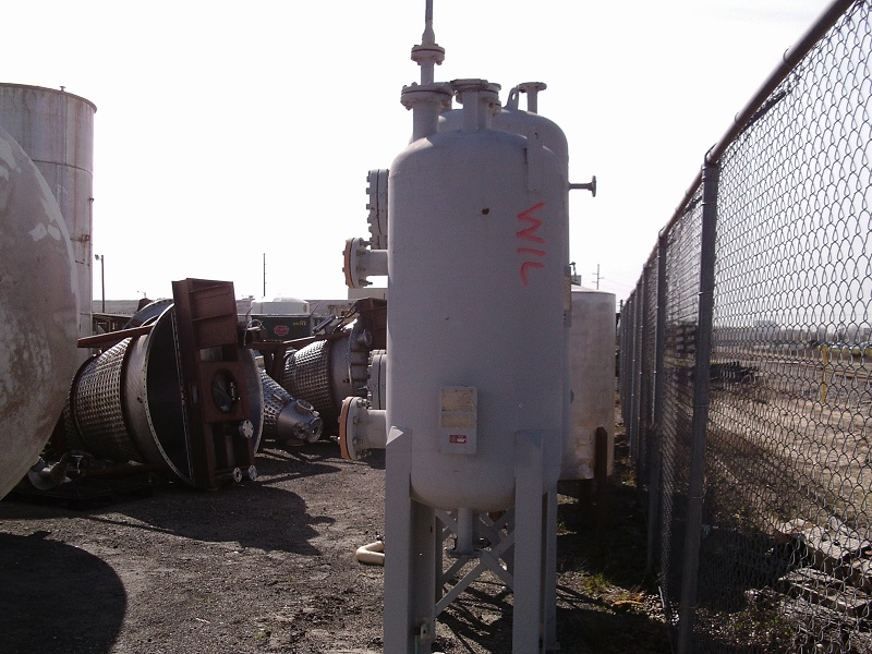 Unused Fourinox, Inc. approximately 140 gallon vertical C/S Tank