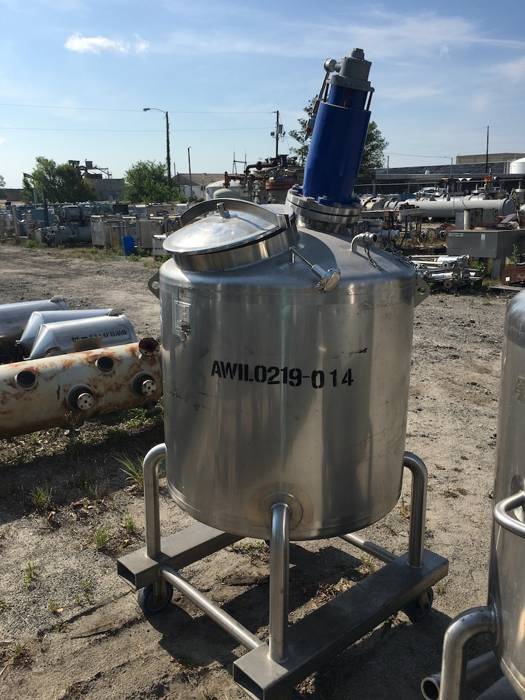 Used Feldmeier Equipment approximately 130 gallon SS vertical mix (SOLD)
