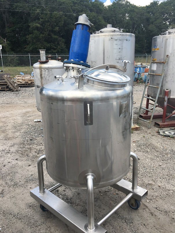 Used Feldmeier Equipment approximately 130 gallon 316 SS  mix tank(SOLD)