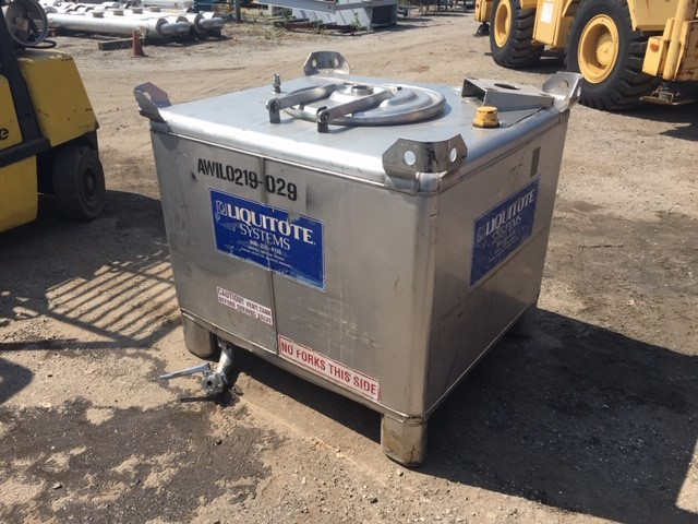Used Hoover Group Inc.  300 gallon stainless steel liquid tote