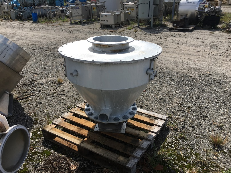Used approximately 60 gallon aluminum cone bottom hopper