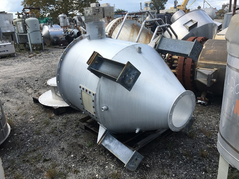 Used approximately 350 gallon aluminum cone bottom hopper