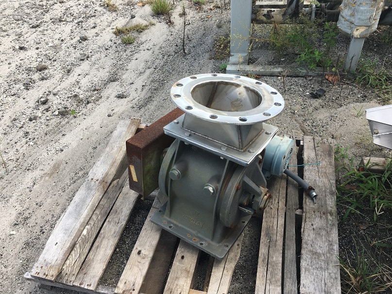 "Used Rotolok 10"" stainless steel airlock body only"