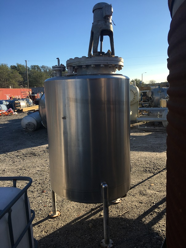 Used San-I-Tanks approximately 330 gallon vertical stainless steeltank(SOLD