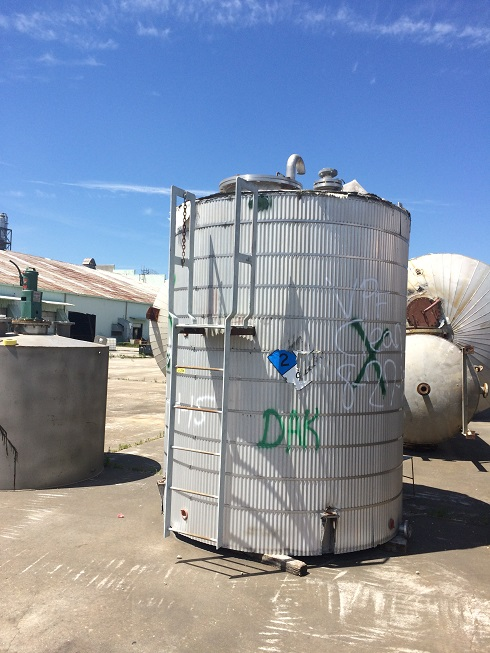 Used Daniel Construction Inc. approximately 2,500 gallon 304 S/S Tank
