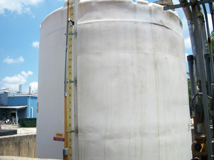 Used approximately 12,000 gallon vertical poly tank(Scrapped)