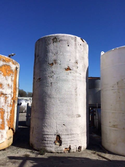 Used approximately 4000 gallon vertical foam covered poly tank