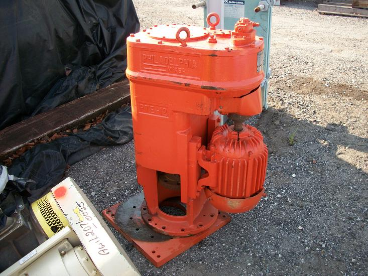 Used Philadelphia mixer drive. Model PTERO-12