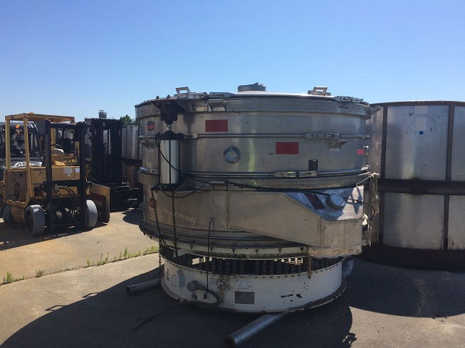 "Used Kason Model K100-2AD-SS, 100"" dia. S/S vibrating screener(SOLD)"