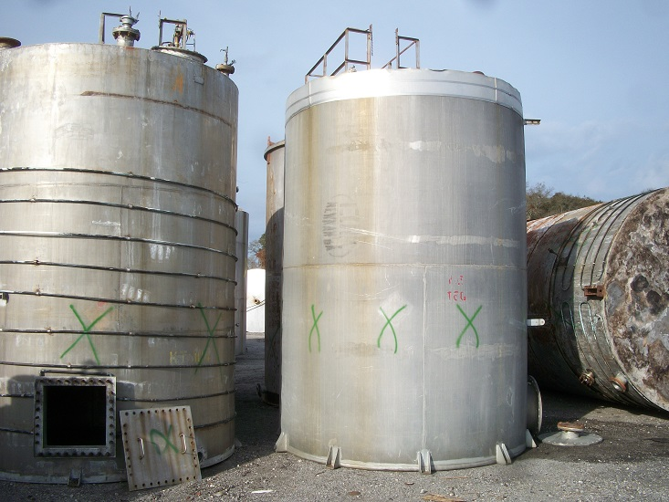 Used R.D. Cole Mfg. Company approx 8000 gallon vertical aluminum tank