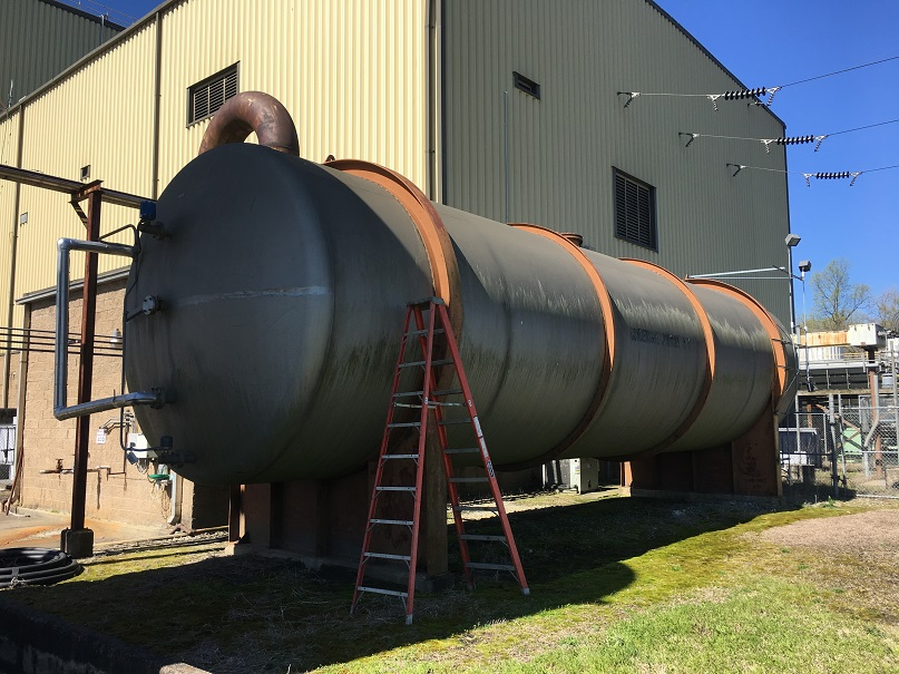 Used Brighton approx. 40,000 gallon 304 SS horizontal tank(SOLD)