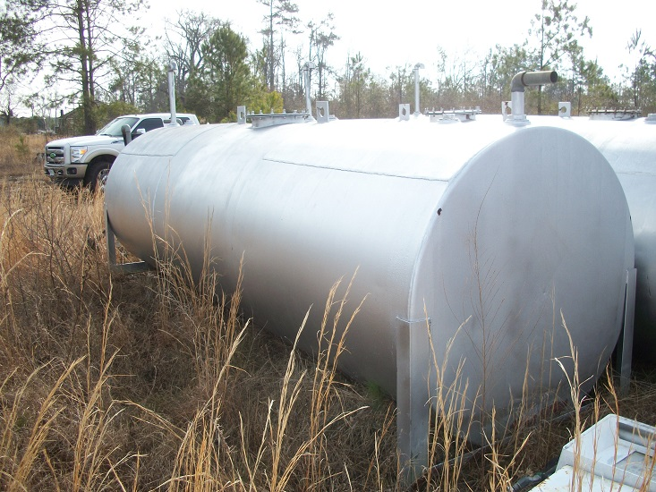 Used approximately 2500 gallon working capacity horizontal C/S Tank