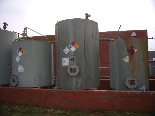 Used approximately 3000 gallon carbon steel storage tank
