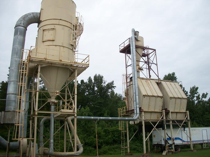 Used Pneumafil reverse air filter and bulk loading system