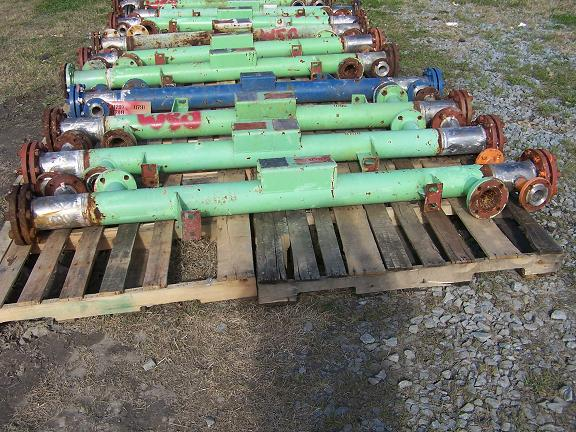 Used Atlas approx 21 sq. ft. C-276 horizontal shell and tube heat exchange