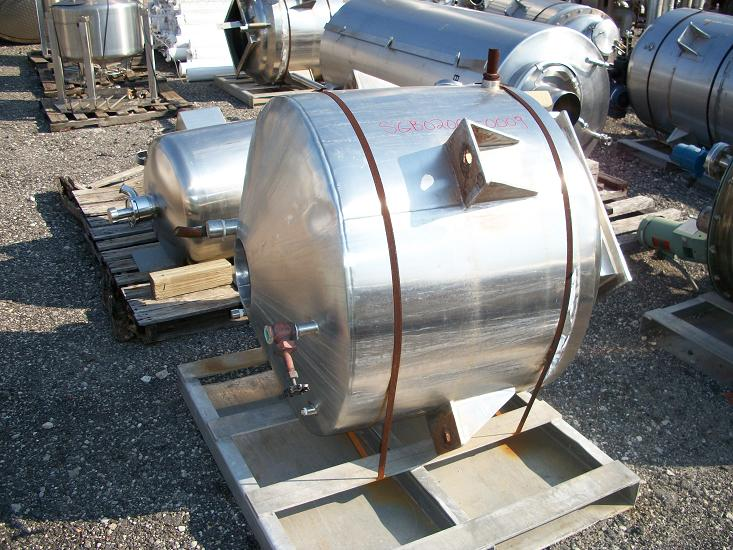 Used approximately 150 gallon 316 stainless steel cold wall Tank(SOLD)