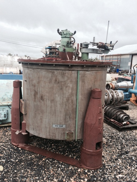 "Used ATM 48"" X 30"" stainless steel perforated basket centrifuge(SOLD)"
