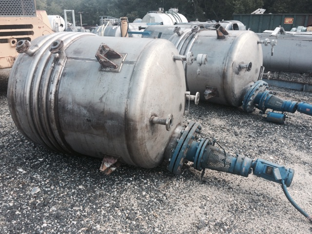 Used Nolte approximately 500 gallon stainless steel reactor