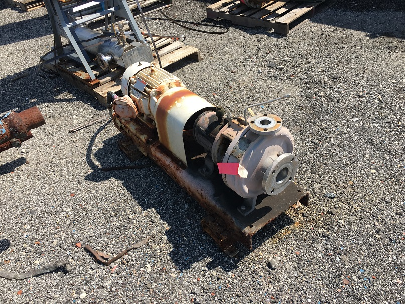 Used Durion Durco 316 SS Mark II centrifugal pump.  Size 3 X 1.5 X 10/100.