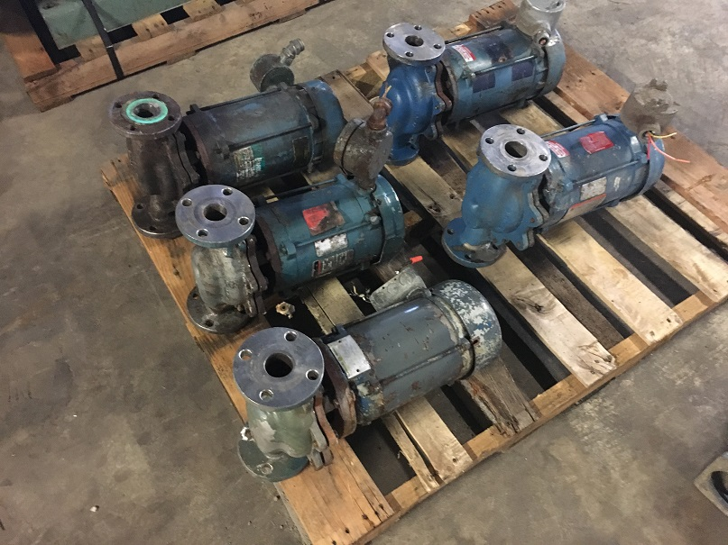 "(4) Used Deanline 1.5"" stainless steel inline pumps"