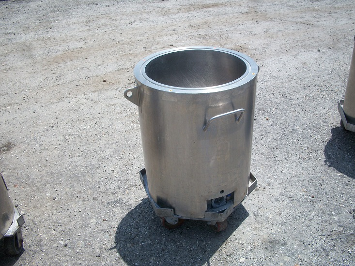 Used Hicks approximately 20 gallon 304 stainless steel jacketed tank.