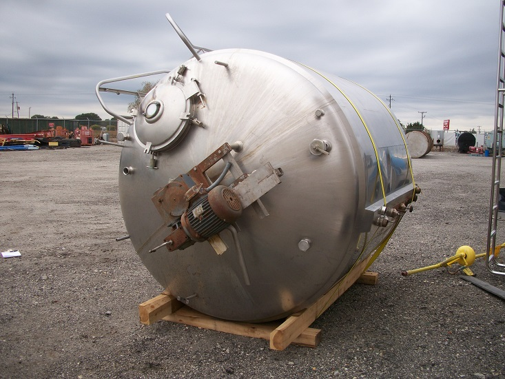 Used Cherry Burrell approximately 1500 gallon S/S jacketed processor