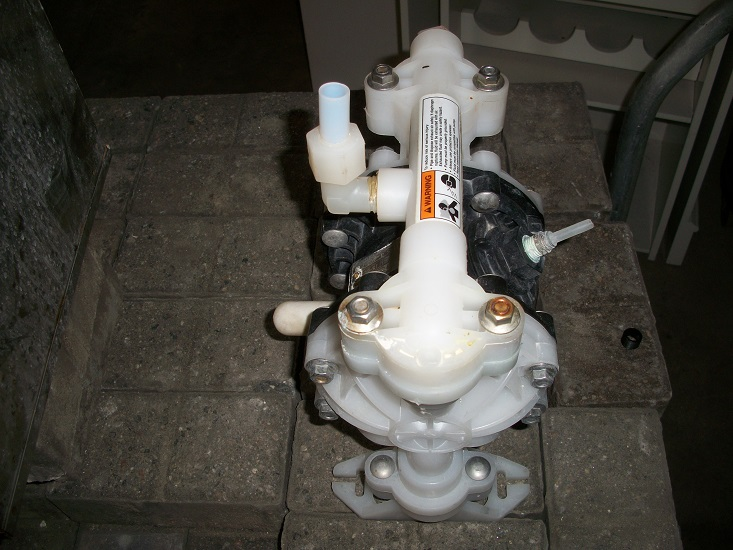 Used Husky Model 515 Diaphragm Pump.  Polypropylene construction
