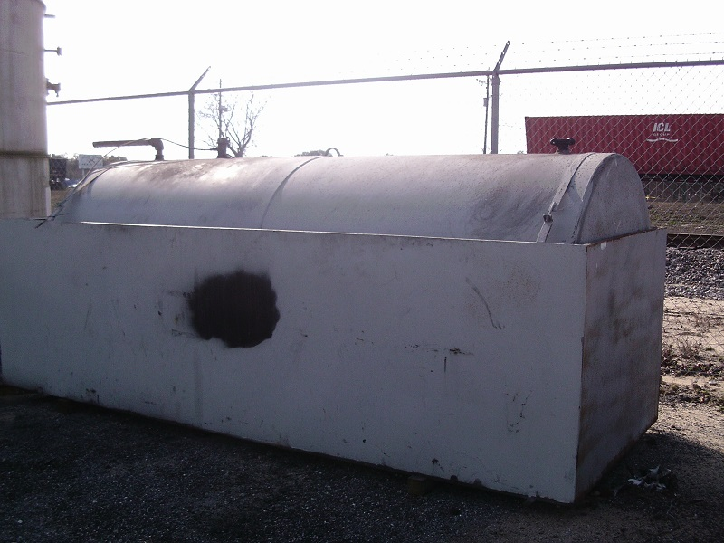 Used approximately 1800 gallon carbon steel horizontal storage tank(SOLD)