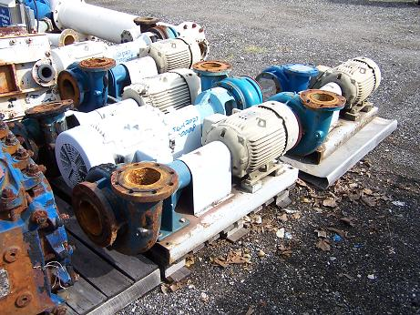 Used Paco carbon steel centrifugal pump.  Rated 1100 GPM @ 55 ft/hd