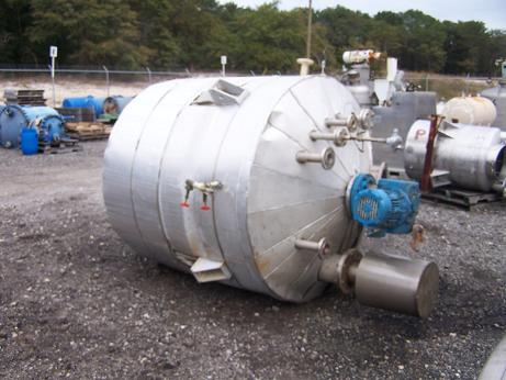 Used Expert Industries approximately 700 gallon 304L S/S Reactor