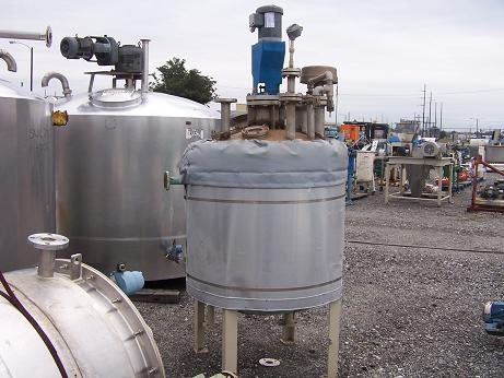 Used Expert Industries approximately 175 gallon vertical 304L S/S tank